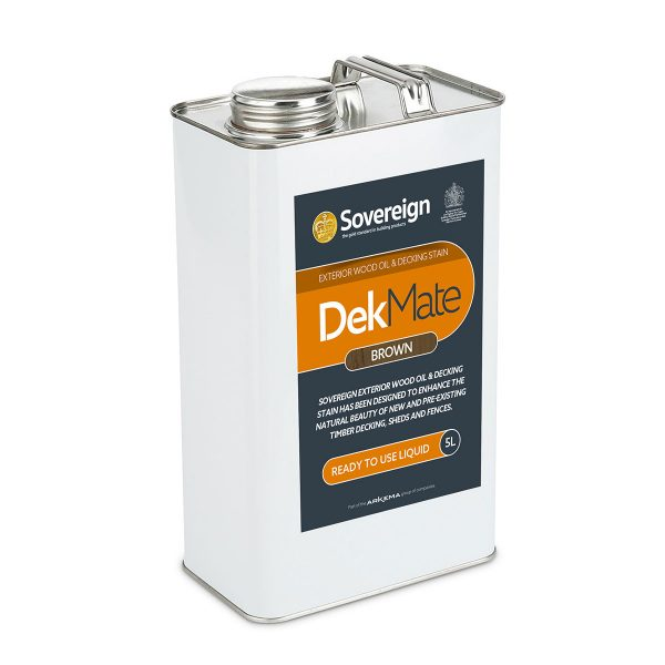 5 Litres DekMate Exterior Wood Oil & Decking Stain in Brown Colour