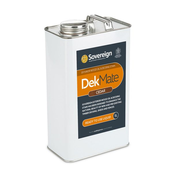 5 Litres DekMate Exterior Wood Oil & Decking Stain in Cedar Colour
