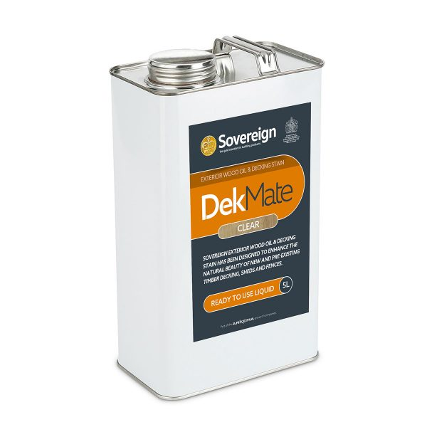 5 Litres DekMate Exterior Wood Oil & Decking Stain in Clear Colour