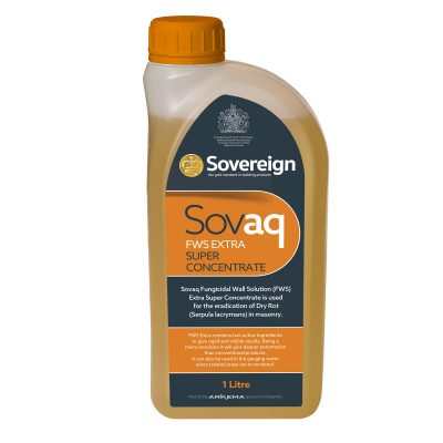 1 Litre Sovaq Fungicidal Wall Solution for Eradication of Dry Rot