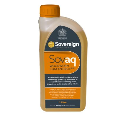 1 Litre Sovaq Woodworm and Wood Boring Insecticide