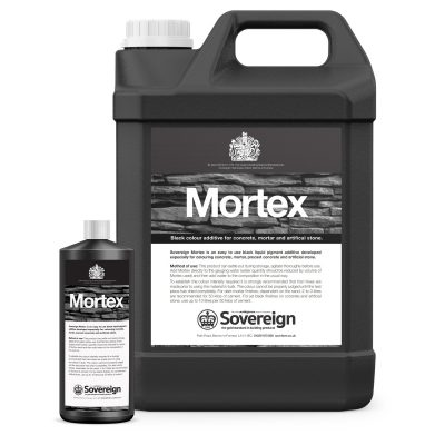 Mortex Black Liquid pigment cement colourant